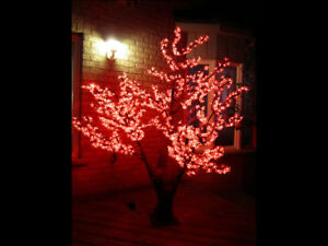 NEW RED LED BLOSSOM TREES