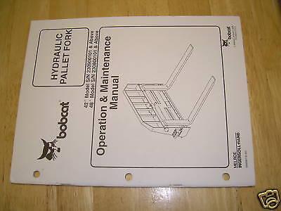 Bobcat Pallet Fork Skidsteer Service Manual