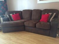 Large brown sofa and large two/three seater sofa