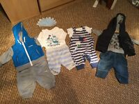 Boys outfits 0-3 months