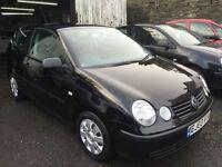 2003 Volkswagen Polo 1.2 S 3 Door Jet Black