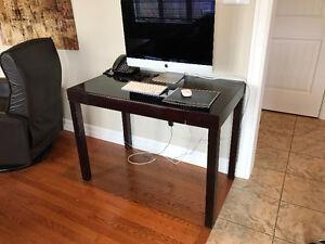 Modern Glass Top Desk