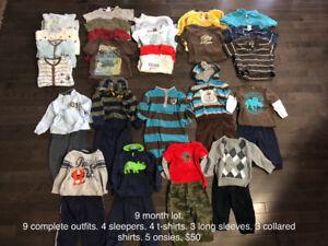 9 month boys clothes