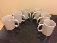 White mugs (set of 6)