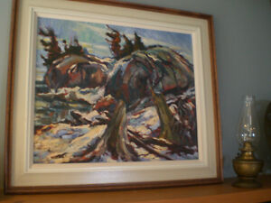 Donald Fraser oil painting