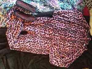 Pink Leopard Print Onesie w/ Front Pockets