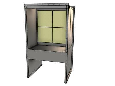 New - 4 Wide Bench Spray Booth - 1 Hp - 1 Ph - Made In Usa