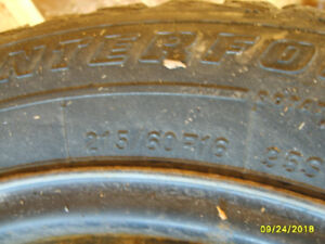 USED WINTER TIRES ON WHEELS