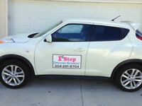 Want to drive? 1st Step Driving School Ltd. We'll show you fast!