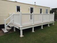 Caravan decking 20x8ft upvc veranda