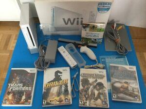 Wii  + jeux pour garcon - 120$