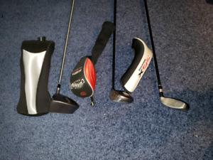 LH golf clubs - Driver, 3W, Hybrid