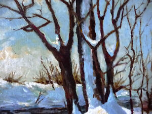 """Early Spring Landscape by T. Callaghan """"Spring Patterns"""", 1960's Stratford Kitchener Area image 8"""