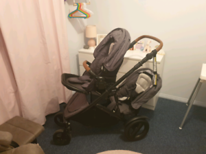 Double steelcraft strider deluxe pram