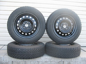 FOUR (4) GOODYEAR NORDIC WINTER TIRES W/RIMS /185/65/15/ - $250