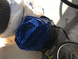 Huge Blue Tarp - Covers a large patio set or at least 12' area