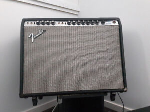 1970s Fender Silverface Twin Reverb - footswitch, new tolex