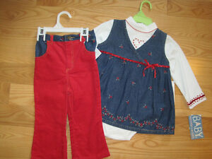 3-piece set in size 24m - NEW