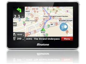 "Binatone A435 Sat Nav GPS 4.3"" UK ROI Lifetime Map Updates Lane Assist 3D View"