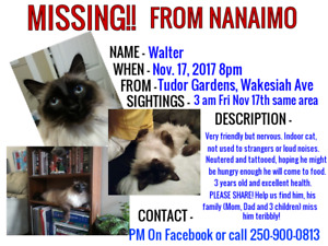 WALTER IS FOUND! HOME SAFE!!