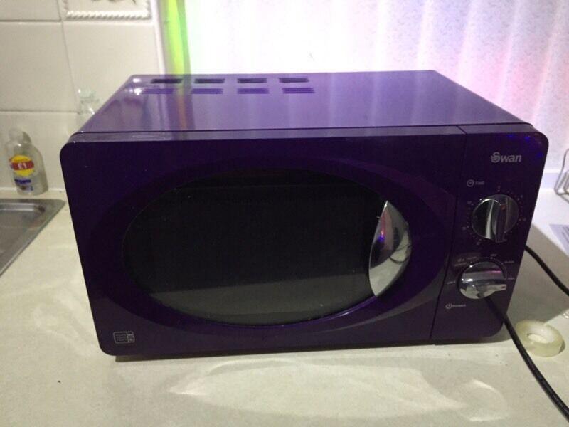 Swan Purple Microwave In Washington Tyne And Wear Gumtree