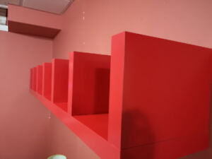 LACK - Wall shelf unit in Red