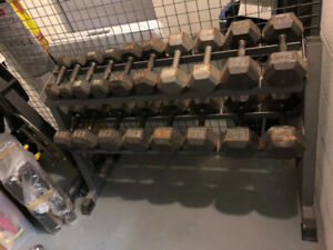 Full Set of Hex Dumbbells with Rack Stand - 2 Sets Available