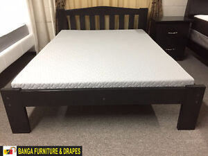 Double Solid Wood Bed Frame and Mattress Clearance