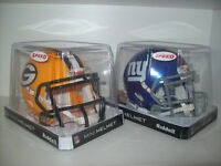 "LOT 2 NFL RIDDELL 5""x5""x7""MINI HELMET NY GIANTS GREENBAY PACKERS City of Montréal Greater Montréal Preview"