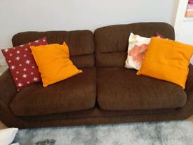 Brown used sofa