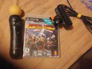 Ps3 Camera, wand and Medieval Moves: Deadmund's Quest game.