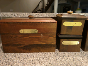 Solid Pine kitchen storage containers