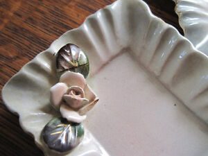Great Matching Set of 2 Antique Mini Trays