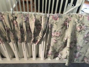 Curtains; Four Panels, Top Quality, Pleated, Room-darkening