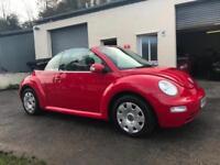 Volkswagen Beetle 1.9TDI 2004 04 Convertible Only 77000 Miles!