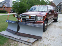 King Ranch F350 c/w Artic Poly Plow and SS Sno-way salter