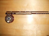 Canne moulinet mouche (Truite) Fly fishing rod and reel