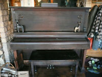 1924 grand piano with bench & music cabinet