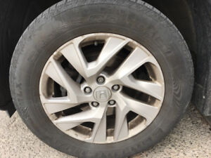 Set of 4 used Continental Cross Contact LX tires 225/65R17 102 T