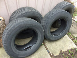 Set of four winter tires off a F250, 17''. 2 yr ish remain