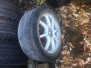 "Pair of 17"" 4 bolt universal wheels  Kingston Kingston Area image 1"