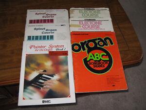 Ukulele--organ--piano  books