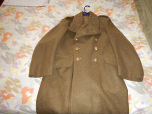 Men's British Military Issued 1952 Winter Wool Coat size XS - S