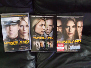HOMELAND - Seasons 1 , 2 & 3 on DVD