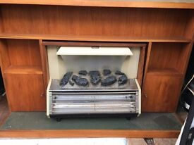"""Electric Fireplace with full Wooden Surrounding- """"Berry Magicoal"""""""