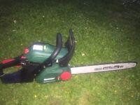 Qualcast 2 stroke petrol chain saw as new chainsaw garden mower lawnmower