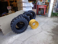tire rim new for bobcat skid steer 16.5-12 , 16.5 -10 super trac
