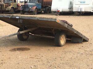 ATV/sled trailer. Tilting deck.  8 x10