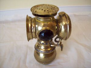 ****Badger Brass Antique Bicycle Carbide Lamp****