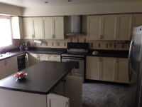 Complete kitchen cabinets and console